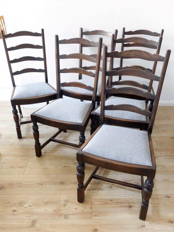 6er Stuhlsatz antik