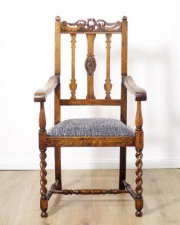 Antiker Armlehnstuhl aus der Gründerzeit