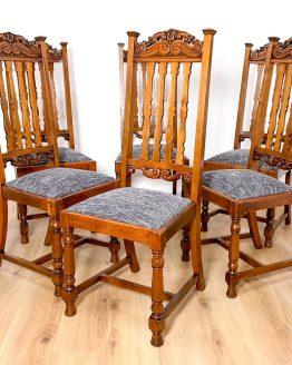 6 Mahagoni Stühle antik